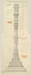 'Miscellaneous Series. Plate.23. Kadwaho Shiwola.'   Mouldings of lower portion of exterior of Siva Temple, Kadwaha